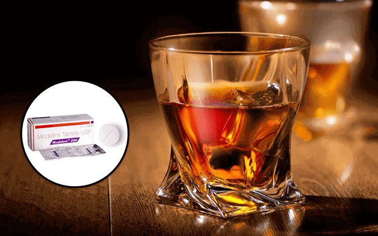 modafinil and alcohol effects